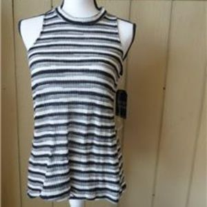 Almost Famous Junior's Striped Racerback Top S